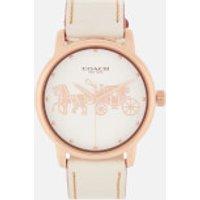 Coach Women's Grand Leather Strap Watch - Rou Chalk