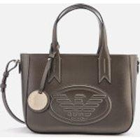 shop for Emporio Armani Women's Frida Small Eagle Tote Bag - Gun Metal at Shopo