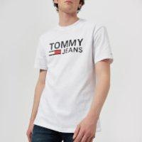 Tommy Jeans Men's Classics Logo T-Shirt - Classic White - M - White