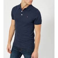 Tommy Jeans Mens Original Fine Pique Polo Shirt - Black Iris - M