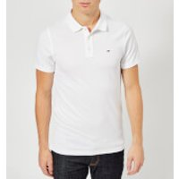 Tommy Jeans Men's Original Fine Pique Polo Shirt - Classic White - S - White