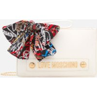 Love Moschino Womens Small Zip Pouch Bag - White