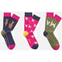 Joules Women's Brilliant Bamboo 3 Pack Socks Set - Dog