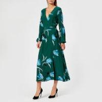 Gestuz Womens Sille Dress - Flower Green - EU 38/UK 10 - Green