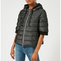 Herno Womens Short Jacket with Hood and Cropped Sleeve - Bla