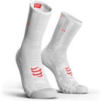Compressport V3.0 Cycling Race Socks - T1/S - Black/Red