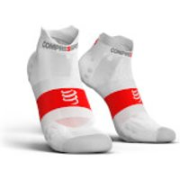 Compressport V3.0 Ultralight Low Running Race Socks - T4/XL - Blue