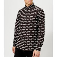 Versus Versace Men's All Over Print Shirt - Black - IT 48/M - Black
