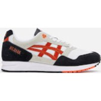 Asics Lifestyle Men's Gelsaga Leather Trainers - White/Flash Coral - UK 8 - White