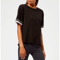 Asics Women's Mix Fabric Short Sleeve Top - Performance Black - L - Black