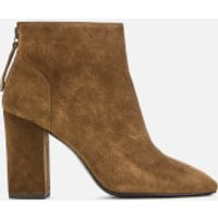 Ash Joy Suede Heeled Ankle Boots - Russet