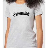 Exhausted Women's T-Shirt - Grey - XL - Grey