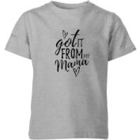 My Little Rascal Got It From Mama Kids' T-Shirt - Grey - 5-6 Years - Grey
