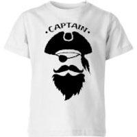 Captain Kids T-Shirt - White - 11-12 Jahre - Weiß