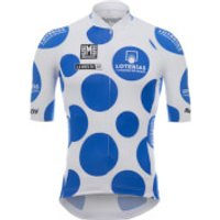 Santini La Vuelta 2018 King of the Mountain Jersey - White/Blue - M - White/Blue