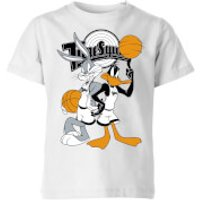 Space Jam Bugs And Daffy Tune Squad Kids' T-Shirt - White - 9-10 Years - White - Space Gifts