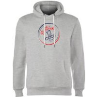 British Cook Circle Logo Hoodie - Grey - XXL - Grey - British Gifts