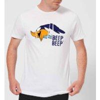 Looney Tunes Road Runner Beep Beep Mens T-Shirt - White - XS