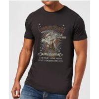Looney Tunes Wile E Coyote Guitar Arena Tour Men's T-Shirt - Black - 5XL - Black