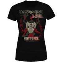 Looney Tunes Tasmanian Devil Monster Rock Women's T-Shirt - Black - XXL - Black - Rock Gifts