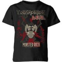 Looney Tunes Tasmanian Devil Monster Rock Kids' T-Shirt - Black - 11-12 Years - Black - Rock Gifts