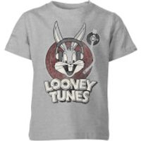Looney Tunes Bugs Bunny Circle Logo Kids' T-Shirt - Grey - 11-12 Years - Grey