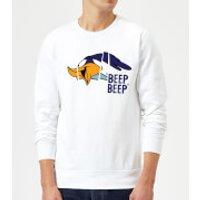 Looney Tunes Road Runner Beep Beep Sweatshirt - White - XXL - White