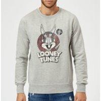 Looney Tunes Bugs Bunny Circle Logo Sweatshirt - Grey - L - Grey