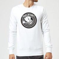 Looney Tunes That's All Folks Porky Pig Sweatshirt - White - XXL - White - Pig Gifts