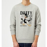 Looney Tunes Daffy Concert Sweatshirt - Grey - L - Grey