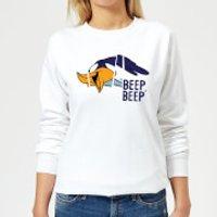 Looney Tunes Road Runner Beep Beep Women's Sweatshirt - White - XS - White