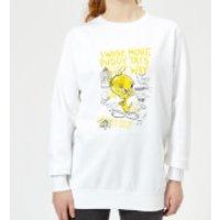 Looney Tunes Tweety Pie More Puddy Tats Women's Sweatshirt - White - 5XL - White