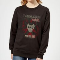 Looney Tunes Tasmanian Devil Monster Rock Women's Sweatshirt - Black - 4XL - Black