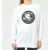 Looney Tunes That's All Folks Porky Pig Women's Sweatshirt - White - S - White - Pig Gifts