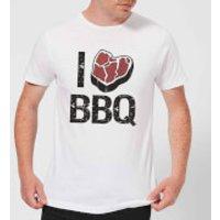 I Love BBQ Men's T-Shirt - White - L - White - Bbq Gifts