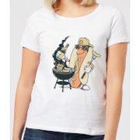 Hot Dog Grilling Women's T-Shirt - White - S - White