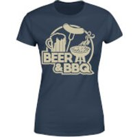 Beer & BBQ Women's T-Shirt - Navy - XXL - Navy - Bbq Gifts