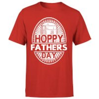 Hoppy Fathers Day Mens T-Shirt - Red - L - Red