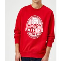 Hoppy Fathers Day Sweatshirt - Red - L - Red