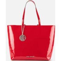 Armani Exchange Patent Shopping Tote Bag - Red