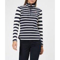Joules Women's Fairdale Half Zip Sweatshirt - Navy Stripe - UK 6 - Navy