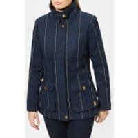 Joules Women's Teed Fieldcoat - Navy Tweed - UK 8 - Navy