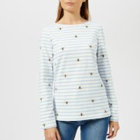 Joules Women's Harbour Print Jersey Top - Cream Stripe Bee - UK 8 - Cream