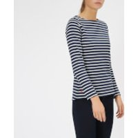 Joules Women's Harbour Jersey Top - Hope Stripe French Navy - UK 6 - Navy