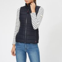 Joules Women's Fallow Padded Gilet with Funnel Neck - Marine Navy - UK 6 - Navy