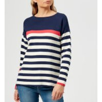 Joules Women's Uma Milano Jumper - Navy Red Cream Stripe - UK 8 - Multi