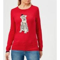 Joules Women's Miranda Red Terrier Intarsia Jumper - Red - UK 8 - Red