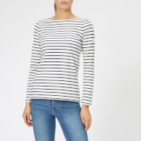 Joules Women's Harbour Jersey Top - Cream Navy Stripe - UK 10 - Cream/Navy