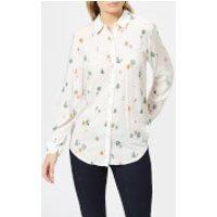Joules Women's Elvina Soft Woven Printed Blouse - Cream Woodland - UK 14 - Cream