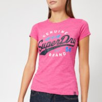 Superdry Women's SD 54 Entry T-Shirt - Fluro Pink Snowy - XS/UK 8 - Pink